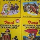 WONDERFUL WORLD OF KNOWLEDGE DISNEY'S educational books 16-18, 20 vintage 70s
