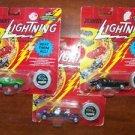 JOHNNY LIGHTNING cars NIP collector's coin Playn Mantis die cast racecar toyssss