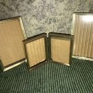 3 embossed shiny gold metal frame photo picture 2x3 3.5x5 table top hinge easel