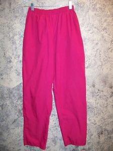 Pink SB Scrub pants nurse dental medical elastic waist straight leg S style 932