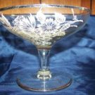 Silver overlay footed stem based candy nut dish floral decorati 50th anniversary