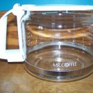 MR COFFEE replacement white coffee maker pot pourer server 10-12 cups flip top
