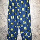 Michigan blue gold boy girl 8/10 flannel boxer pajamas bottoms pjs lounge pants
