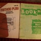 Wurlitzer Organ #2 '57 Method Play #6 '70 music books Glover Clark vintage used