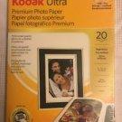 "KODAK Ultra premium Photo Paper 5x7"" 10 mil high gloss finish computer printing"