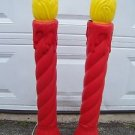 CHRISTmas holiday blow blo mold outdoor lawn candle lights 3' foot UNION PRODUCT