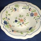 """Vintage SEARS French Country Ironstone blue peach flower serving salad bowl 9.5"""""""