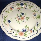 """Vintage SEARS French Country Ironstone serving platter 12"""" peach flowers scallop"""