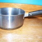 """Vintage REVERE WARE stainless steel 3"""" 2 quart sauce pan pot copper clad US made"""