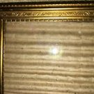 Antique gold brass metal fine detail embossing photo picture frame easel wall