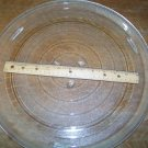 "15"" round microwave turntable glass plate tray dish replacement part piece GUC"