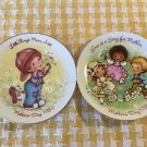 """82 83 AVON Mother's Day collector's plates small 5"""" made JAPAN vintage gift deco"""