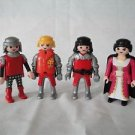 3004 GEOBRA Playmobile action figure men woman lot 4 red knights medieval people