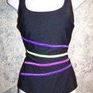 Black slimming SUIT YOUR SELF Tummy Thinner swimming bathing swim suit 8 ret $80