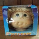 Martha Thomas DOLL BABY head CPK style yarn hair NIB birth certificate hazel eye