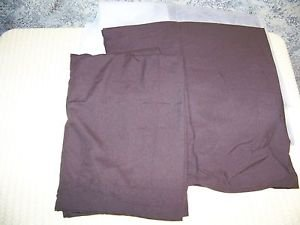 MAINSTAY chocolate brown bed skirt pillow sham case twin single bed NIP bedroom