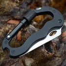 Outdoor Multi-function EDC Tool 5 in 1 With Knife Screwdriver Aluminum Climbing Carabiner Hook