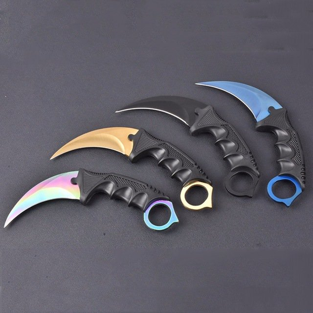 Karambit Knife CS GO Hunting Never Fade Counter Strike Fighting Survival Tactical Knife Claw Ca