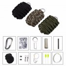 All in 1 Carabiner Tinfoil Cotton Tinder Eye Knife Fire Starter Fishing Tools Outdoor Survival