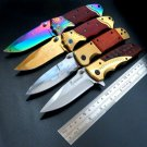 2016 Hot recommend Pocket Hunting E-DA69 Knife 9Cr13Mov Stainless Steel Blade Folding Tactical