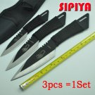 [3 in 1] knife tactical fixed blade knife survival Outdoor Camping Knives Stainless Steel Tacti