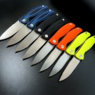 High Quality Sand Polished and Stone Washed F3 Camping Folding Knife D2 Blade G10 Handle Pocket