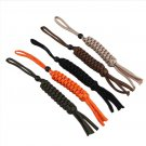 1Pcs 19cm Nylon Rope Chain Corn Knot Ornament Knife Keychain Lanyard DIY EDC Gear BC2175