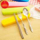 Stainless Steel Cutlery Set Travel Camping Picnic Necessity Kit Portable Tableware Outdoor Cand