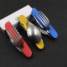Survival Hunting Knife Multitool Cutlery Sets Pocket Folding Knife Knives Outdoor Travel Multif