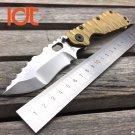 LDT STRIDER Utility Folding Blade Knives SMF D2 Blade Titanium Handle Camping Tools Outdoor Tac