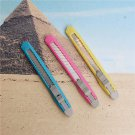 3PCS/lot smaller utility knife Plastic telescopic knife cut paper office and school stationery