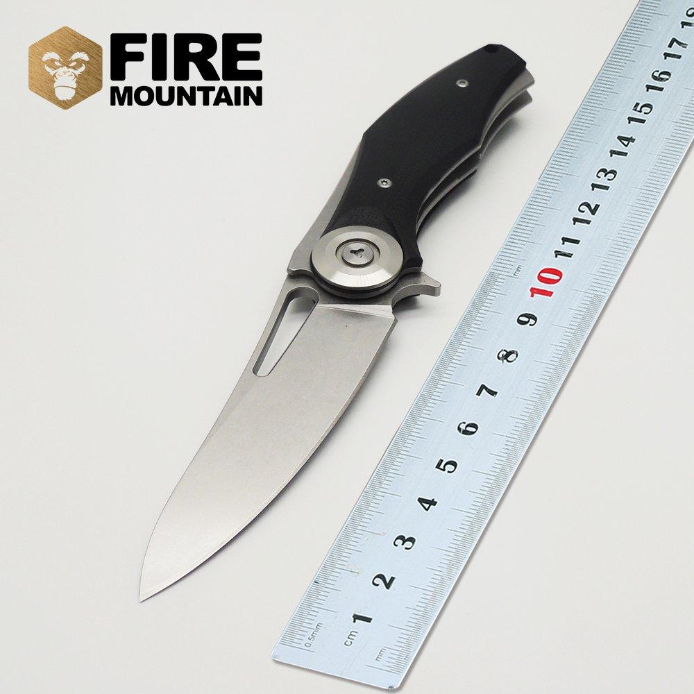 WLC Bear Dark Flipper folding knife D2 blade G10 handle outdoor Wild Boar tactical survival hun