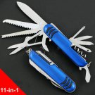 11-in-1 Multi-purpose 91mm Folding Swiss Knife Stainless Steel Army Knives Pocket Hunting Campi