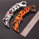 2 Colors Coating Karambit Knives 440C Stainless Steel Outdoor Camping Folding Blade Knife Tool