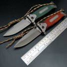 Hot 364 Folding Knife Ropes Camping Hunting Knife 5Cr Titanium steel blade Outdoor tool Surviva