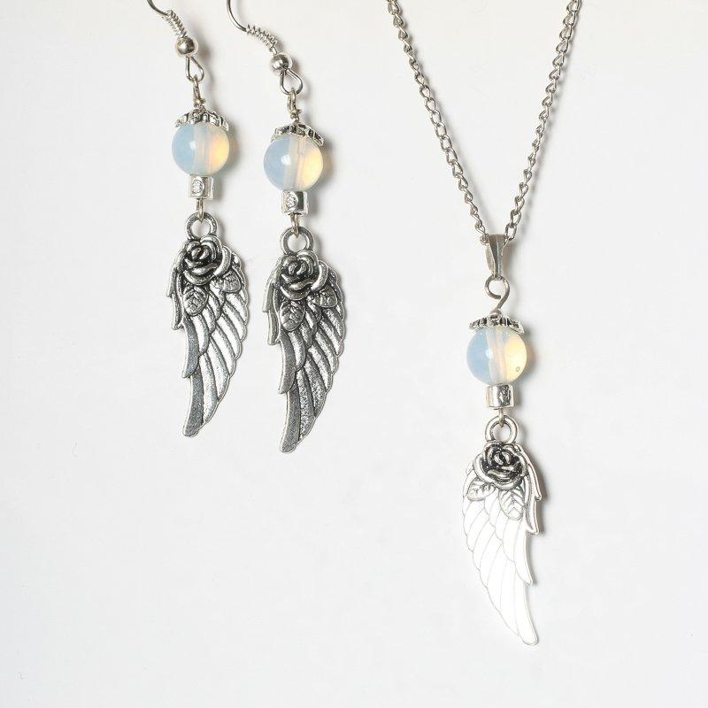 Jewelry set opalite