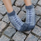 Women M Wool Warm Ankle Socks Reindeer Thick