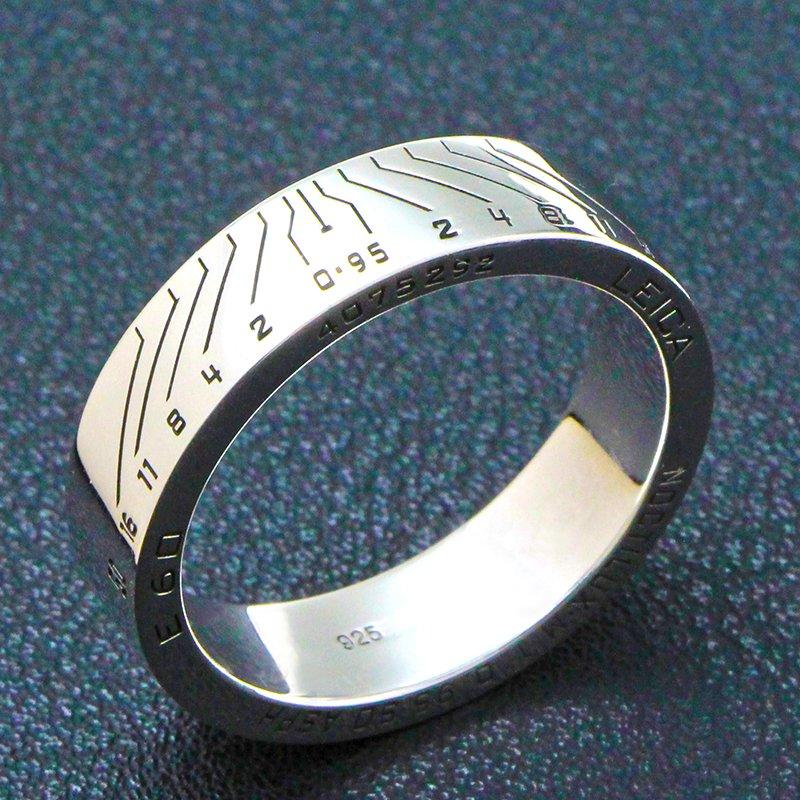 Women`s Camera Lens Sterling Silver Photographer design shutterbug E60 custom ring