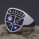 US Army Rangers Regiment 75th Military Solid Starling Silver Jewelry Ring