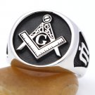 Vintage Master Mason Freemasonry Symbols Sterling Silver Masonic Jewelry Ring