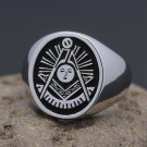 Vintage Past Masters Mason Masonic Fraternity Sterling Silver Ring