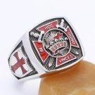 Knights Templar In Hoc Signo Vinces Freemasons Masonic Sterling Silver Ring