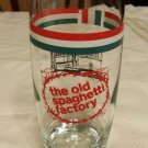 Old Spaghetti Factory Glass Collectible Italian Restaurant Red White Green NEW