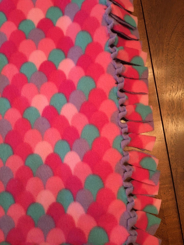 Pink Baby Blanket, Mermaid Blanket, Pink Fleece Blanket, Baby Shower Gift, Gifts for H