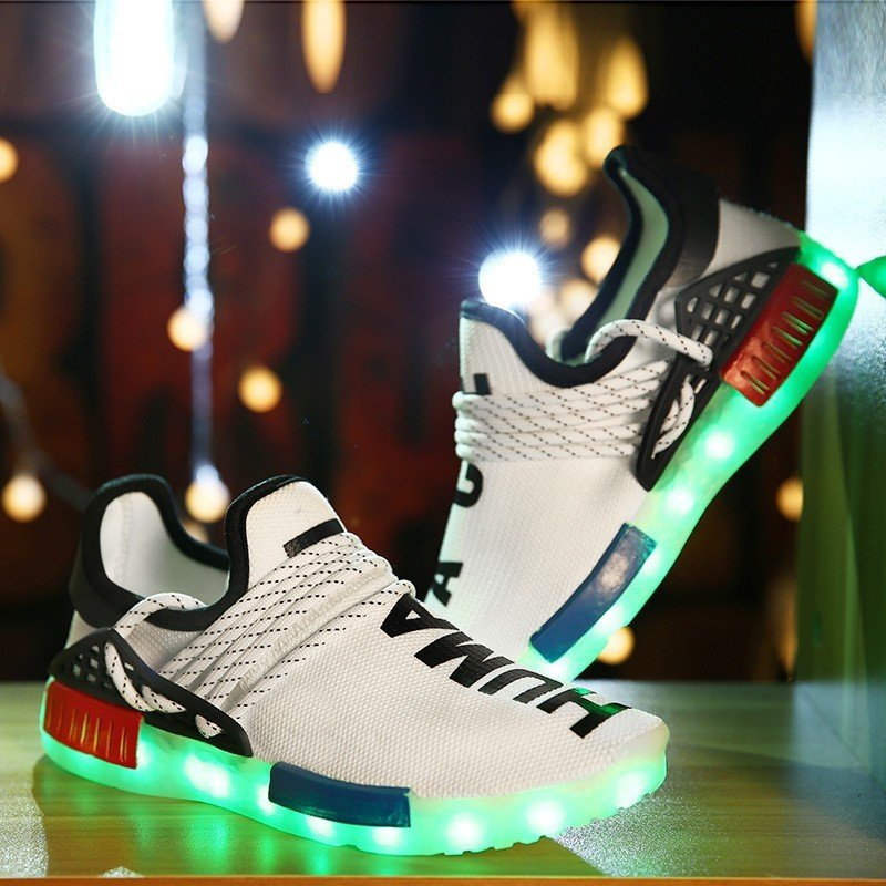 8 Colors Luminous Shoes White For Adults
