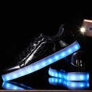 7 Color Light Up Sport Shoes Black
