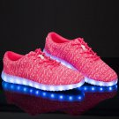 7 Color Light Up Shoes With Usb Charging Red