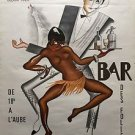"Paul Colin-Josephine Baker ""Bar Folies Africaines Jazz cabaret""1954 Reproduction"