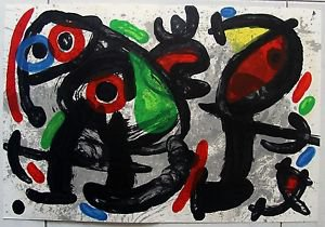 "Miro Joan Original lithograph From ""Derriere le Miroir"" Copy No' 186"