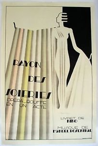 """Dufrene Maurice  """"Rayon des Soieries"""" Original Poster rare large dimensions"""